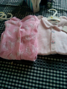Two brand new pink sleepers