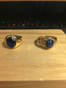 Selling 2 14k Solid Gold Saphire Rings