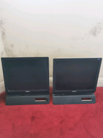 Sony Dual Monitors perfect condition fully working