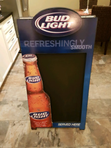 Budweiser Light Two-Sided Chalkboard Beer Sign