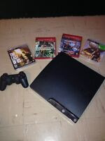 Playstation 3 Slim with 6 classic games