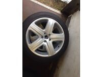20 inch 5spoke alloys brand new low profile tires £750