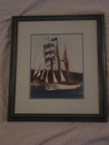 4 Tall Ships Pictures in Frames
