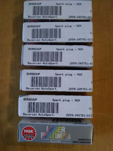 6 x NGK Spark Plugs BKR6EQUP & Rubber Boots For BMW E39 5 Series