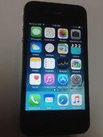 iphone 4s noir bell / virgin en très bonne condition 125 $ firm