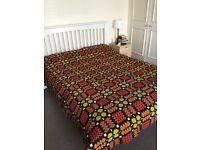 Large king size reversible vintage welsh blanket