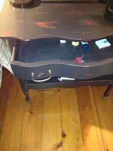 Milk paint black one drawer side table, with open shelf Kitchener / Waterloo Kitchener Area image 2