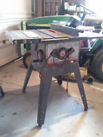 "10"" Craftsman table saw with stand."