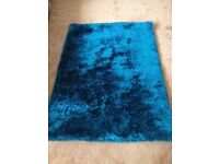 Turquoise blue rug NO TIME WASTERS! NO OFFERS!
