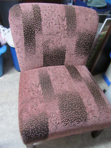 Pink & Brown Chair