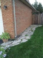 Flagstone and landscaping rocks
