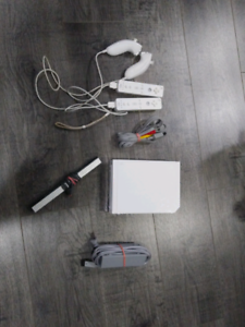 Nintendo wii with two remotes