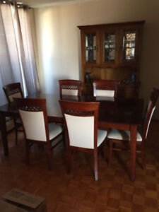Dinning set - Dinning Table, China cabinet, round table