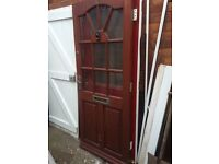 External timber front door