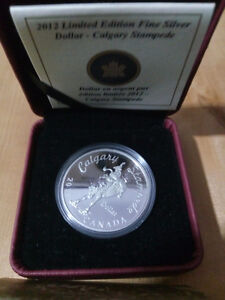 2012 $1 100 Years Calgary Stampede Special Edition Silver Dollar