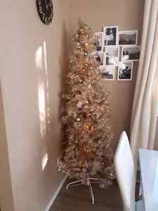Gorgeous 6' rose gold Christmas tree