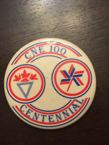 Canadian National Exhibition (CNE) 100 Year Button