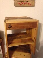 Night stands side / end tables - reclaimed wood