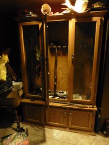 Armoire de rangement en bois pour armes à feux
