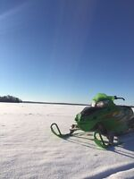 "Summer deal! 03 Arctic Cat F7 EFI ""Green Goblin"