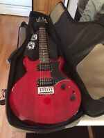 Ibanez GAX30 electric guitar, Crate amp and Goldin bag