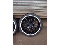 """Audi VW merc 5x112 20"""" alloy wheels"""