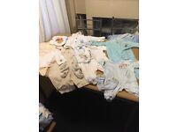 Box of 0- 12 months baby clothes
