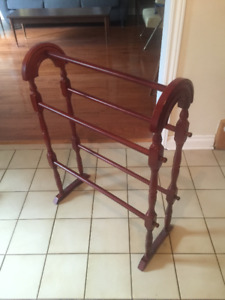 Wooden Blanket Rack - lovely condition