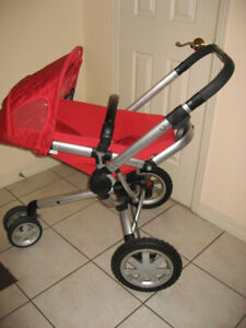Quinny Buzz Xtra Stroller w/ Rumble Seat / Bassinet, Red