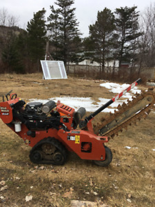 Ditch Witch Trencher and 21 foot Tilt tandem trailer