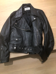 brand new ACNE studios leather jacket size 34