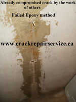 WET BASEMENT/ BASEMENT WALL CRACK REPAIR /MARKHAM,RICHMOND HILL