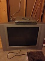Free TV and DVD player