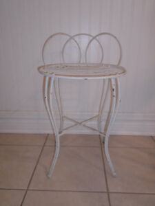 Vintage Shabby Chic Hollywood Regency Metal Vanity Stool Chair
