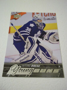 2015-16 ANTOINE BIBEAU TORONTO YOUNG GUNS HOCKEY CARD