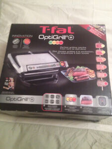 T-Fal OptiGrill + Stainless steel Electric Grill BNIB IN SEALED