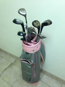 Spalding bag and asstd. clubs