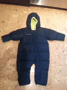 Columbia Down Filled Bunting Snow Suit 24 month
