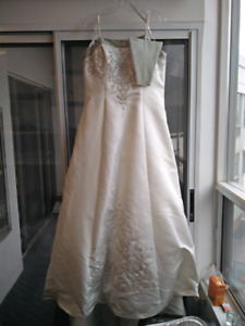 Hand Embroidered Wedding Dress - Fits size 12
