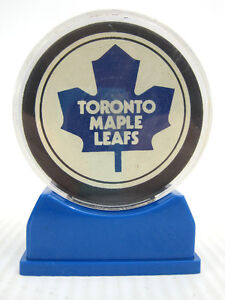 Toronto Maple Leafs Puck Official NHL Game Used Hockey Old Logo