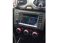 Ford touchscreen dvd, sat nav and blutooth stereo