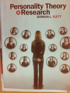 Personality Theory and Research by Gordon L Flett