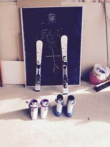 Bottes et Skis Enfant ( 2 ensembles à vendre )