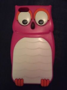 3D Owl Protective Case for iPhone 5 (Rose Red)