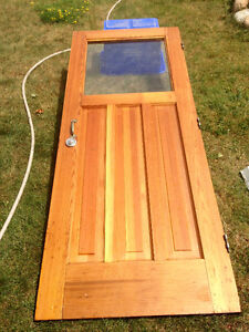 32 by 80 inch solid wood exterior door