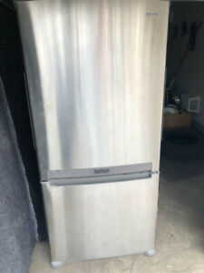 Samsung Stainless steel counter depth top fridge bottom freezer