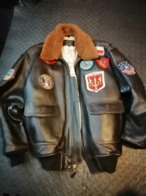 Top gun and avirex genuine mens jacket leather large xxl clothes