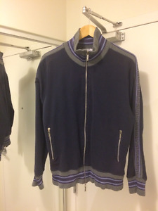 Versace navy purple zipper jacket hoodie M 100% Authentic