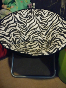 Zebra moon chair