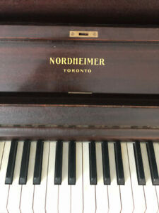 Nordheimer upright piano - Canadian Made - Priced to Sell!